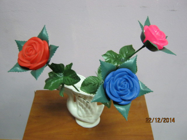 Светящиеся розы.