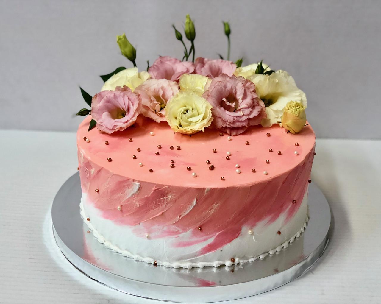 """Свадебный торт на заказ """"Нежные цветы"""""""