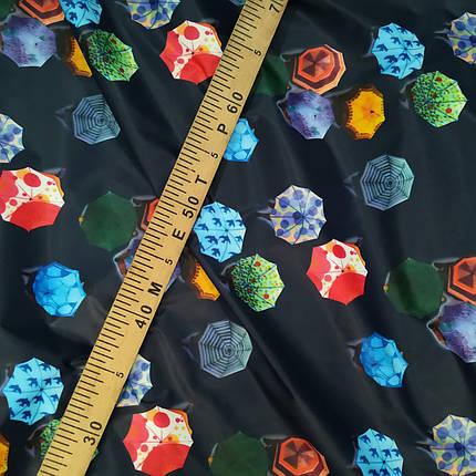 Плащова тканина лаку принт парасольки, фото 2