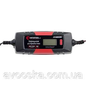Зарядное устройство 6/12В, 1/2/3/4А, 230В, зимний режим зарядки, дисплей, максимальная емкость заряжаемого аккумулятора 1.2-120 а/ч INTERTOOL AT-3024