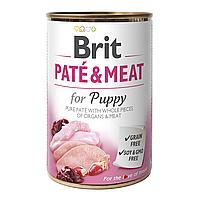 Brit PATE & MEAT for Puppy 400 г - консервы для щенков (курица и индейка)