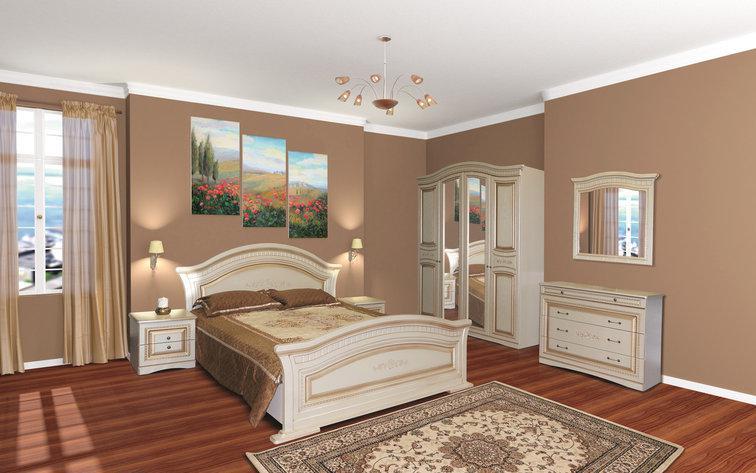 Кровать двуспальная  в классическом стиле   Николь  Світ меблів