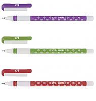 Ручка шариковая Simple ассорти, синяя