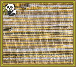 Натуральные обои Травка, трава-камыш /желтый фон