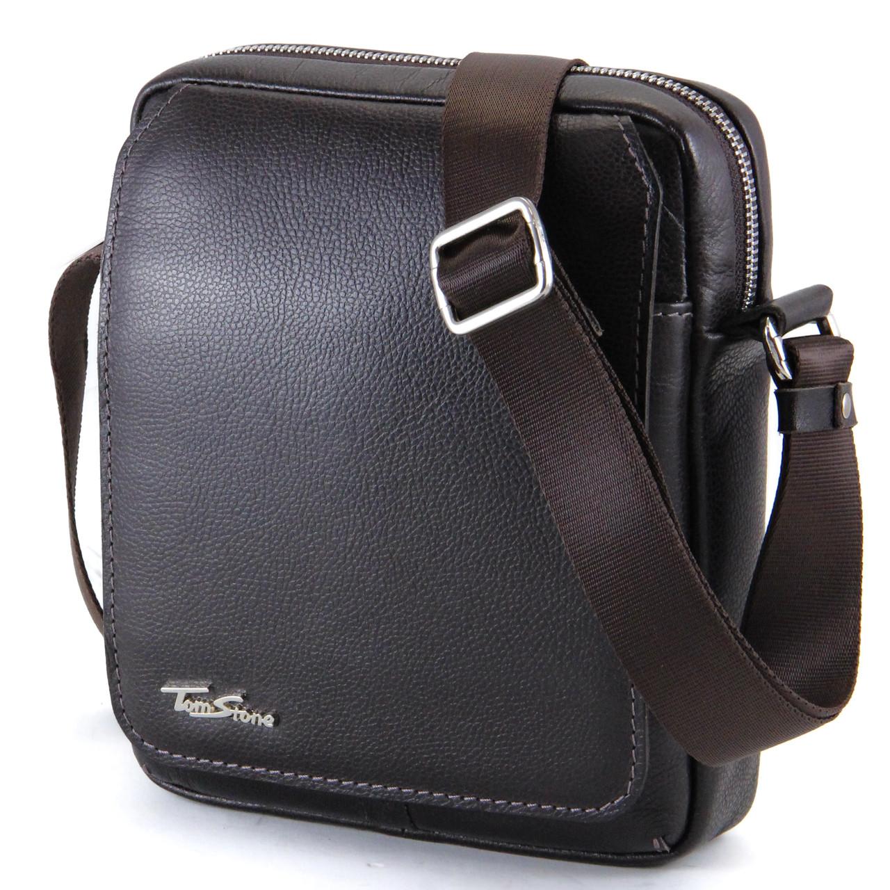 f859509f9444 Кожаная мужская сумка Tom Stone от интернет-магазина
