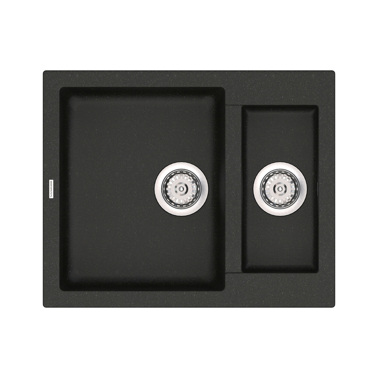 Кухонная мойка гранитная Vankor Orman OMP 03.61 Black 61*50