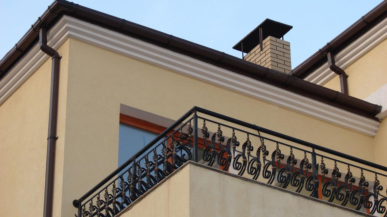 Кованые перила на балкон классика