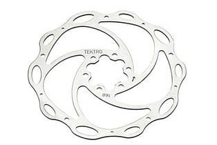 Ротор Tektro 160 mm  під 6 болтів сріблястий