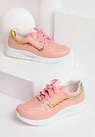 Розовые кроссовки женские на шнуровке 27940, фото 1