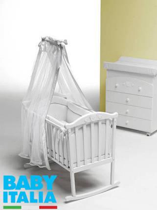 Люлька-колыбель Baby Italia Didi Culla White, фото 2