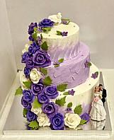 """Свадебный торт на заказ """"Лавандовые цветы"""", фото 1"""