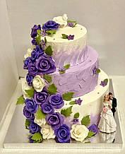 """Свадебный торт на заказ """"Лавандовые цветы"""""""