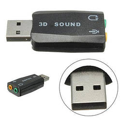 USB звукова карта 3D Sound card 5.1 зовнішня