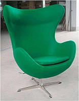 Дизайнерское кресло Эгг Egg chair зеленый кашемир, бесплатная доставка