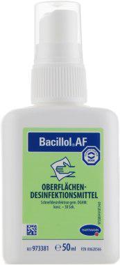 Бациллол АФ для інструментів і поверхонь, 50 мл - спиртове швидкодіюче дезінфікуючий засіб.