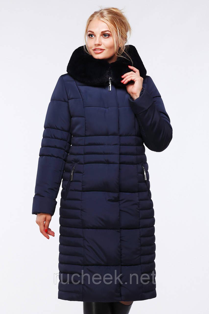 Теплое зимнее пальто Дарселла батал р-ры 48-64 ТМ NUI VERY, Украина
