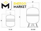 """Бак расширительный G-Sun (12 литров, 3/4""""Н, 10 бар) , фото 3"""