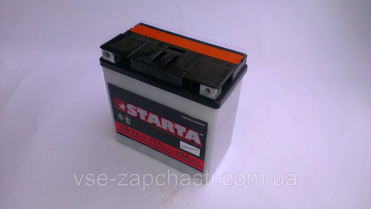 Аккумулятор 9A/12V Starta кислотный