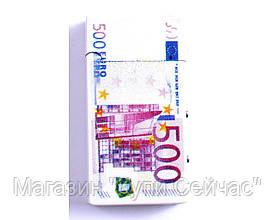 """Зажигалка 500 Евро с фонариком и ультрафиолетовой лампочкой """"Евро"""""""