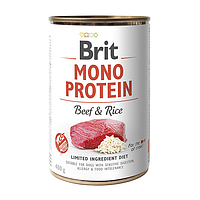 Brit Mono Protein BEEF & RICE 400 г - консервы для собак (говядина/рис)