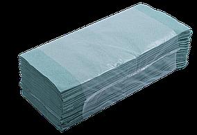 Полотенца макулатурные Buroclean V-образные, 160 шт, зеленые