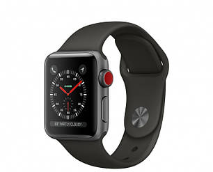 Apple Watch Series 3 GPS + Cellular 38mm Space Gray Aluminum with Gray Sport Band (MR2W2), фото 2