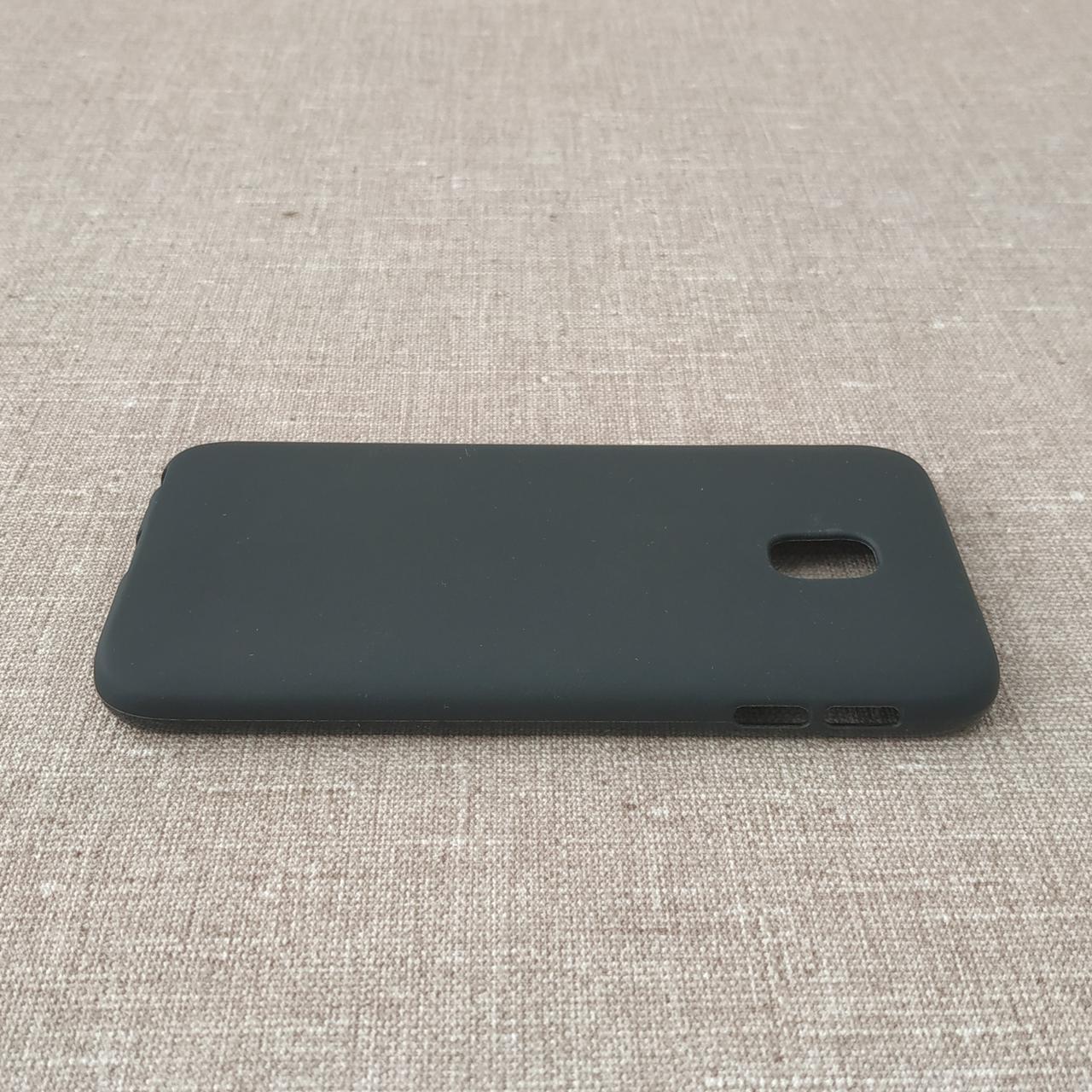 Чехол TPU Samsung Galaxy J330 black J3 (J330) 2017 Для телефона Черный