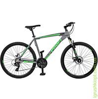 "Велосипед 26"", алюм.рама 19"", Shimano 21SP, алюм.DB, двойн. обод, серый"