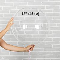 "Надувной шар Bubbles без рисунка 18""(45см) Китай, фото 1"