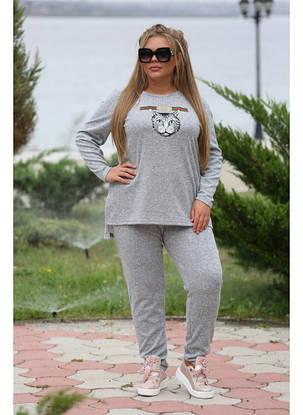 Женский спортивный костюм Story серый ангора софт / размер 48-72 , фото 2
