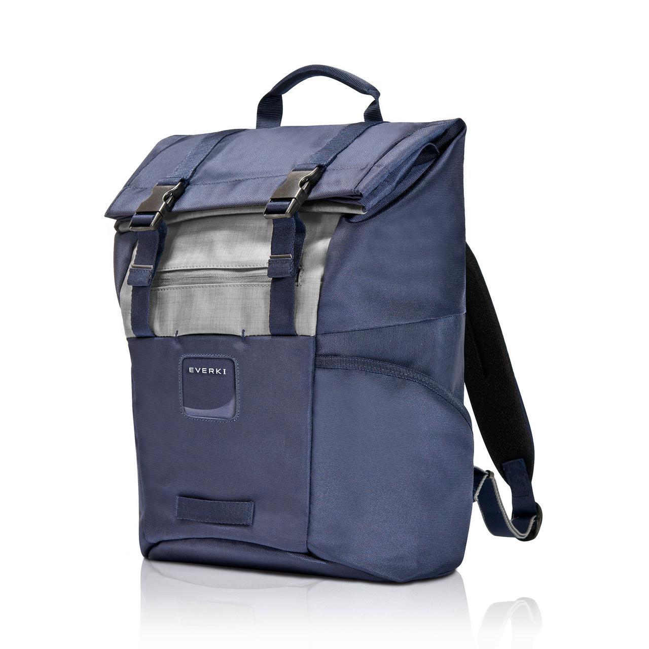 Рюкзак для ноутбука Everki kontem pro navy с системой roll top и уникальным дизайном