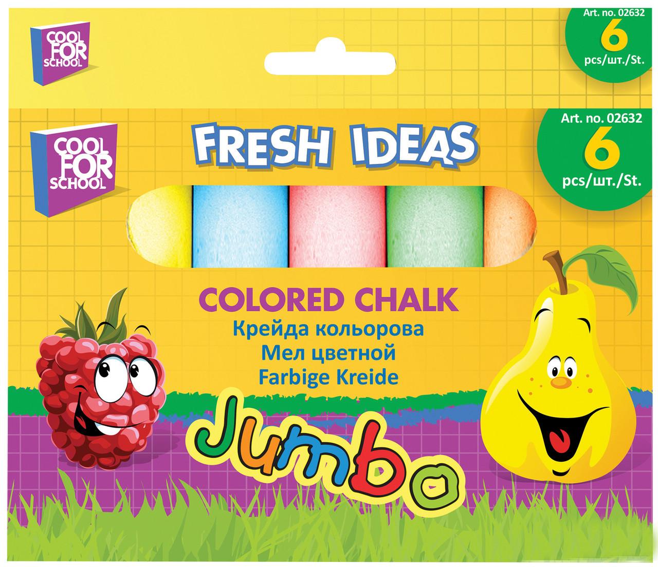 Крейда великий Jumbo CFS 6 кольорів