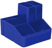 Подставка для ручек, 6 отделений синяя