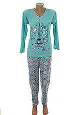 К.S.M пижама женская на байке разные цвета и накатки Турция, фото 3