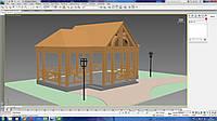 3d моделирование садовой беседки