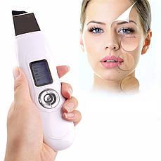 Cкрабер ультразвуковой портативный Ion EMS Sonic CS306 для глубокой чистки и омоложения лица