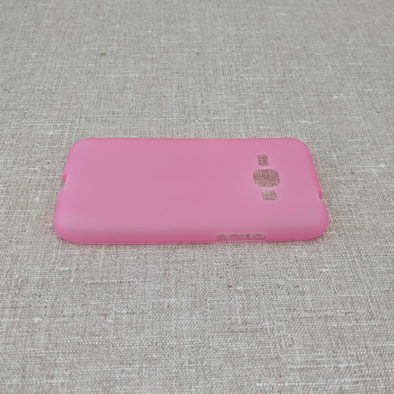Чехлы для Galaxy J Series (остальные модели) TPU Samsung J120 pink Для телефона J1(2016)