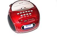 Радио бумбокс колонка часы караоке MP3 USB Golon RX 186 Red