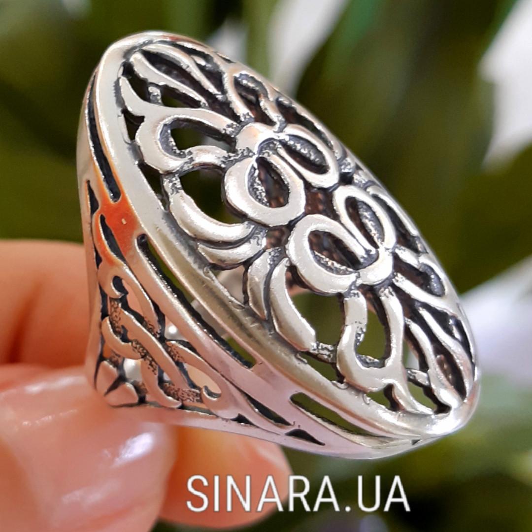 Ажурный серебряный перстень без камней