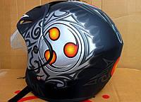 Шлем-полулицевой BLD №-203 черный/абстракция