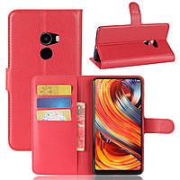 Чехол Xiaomi Mi Mix 2 книжка PU-Кожа красный