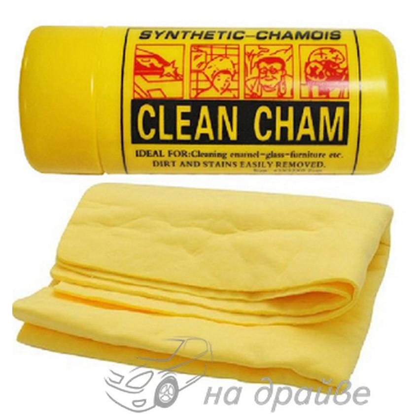Салфетка влажная маленькая в тубусе Clean Cham 430х320x2 мм синтетическая