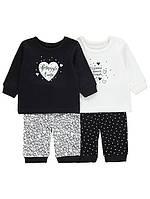 Детские пижамы девочка со штанами 1.5-2 года