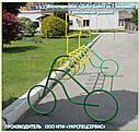 """Велопарковка  """"Дабл-Байк - 7"""" на 7 веломест с рекламной рамкой, фото 7"""