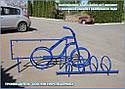 """Велопарковка  """"Дабл-Байк - 7"""" на 7 веломест с рекламной рамкой, фото 5"""
