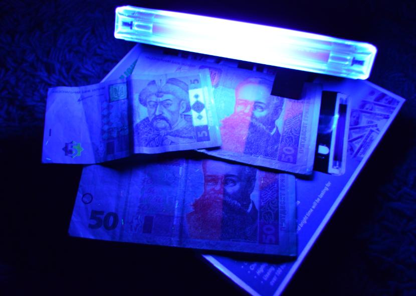 Детектор валют денег DL-01 ультрафиолет