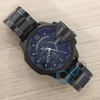 Мужские наручные часы Diesel 10 Bar All Black, кварцевые, часы Дизель, реплика, отличное качество!