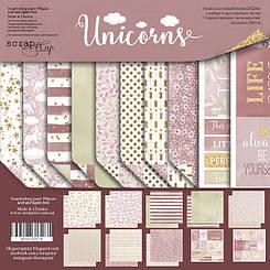 Набір дизайнерського паперу Єдинороги (Unicorns)