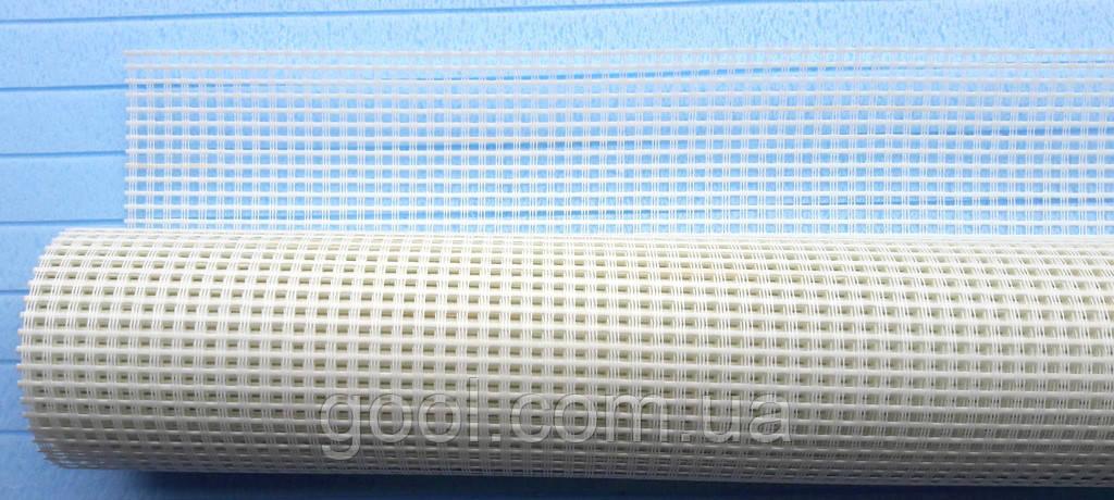 Панцирная сетка фасадная Стронг Текс плотность 300 гр/м2 размер ячейки 6х6 мм.
