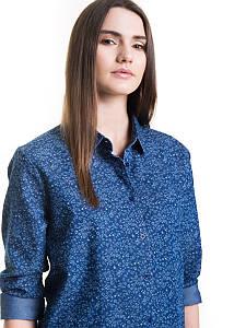 Рубашка с длинным рукавом женская BIG STAR BS MILLYS SHIRT LS 450 NAVY
